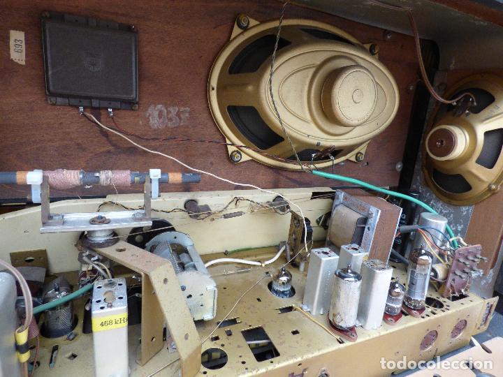 Radios de válvulas: Antigua radio de válvulas marca GRUNDIG, muy bien conservada, funcionando con buen sonido (ver vídeo - Foto 20 - 109154331