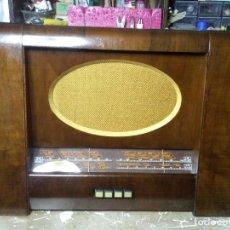 Radios de válvulas: ANTIGUA RADIO A VALVULAS HMV ,HIS MASTER´S VOICE MODELO 1123 RESTAURADA. Lote 112101527