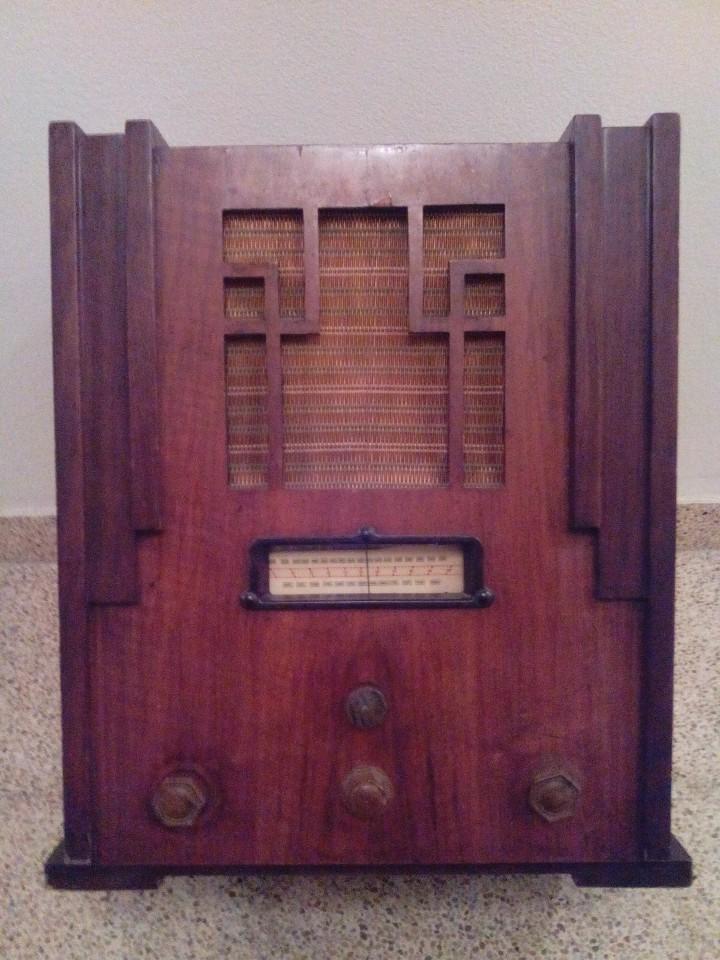 RADIO ANTIGUA ART DECÓ (Radios, Gramófonos, Grabadoras y Otros - Radios de Válvulas)