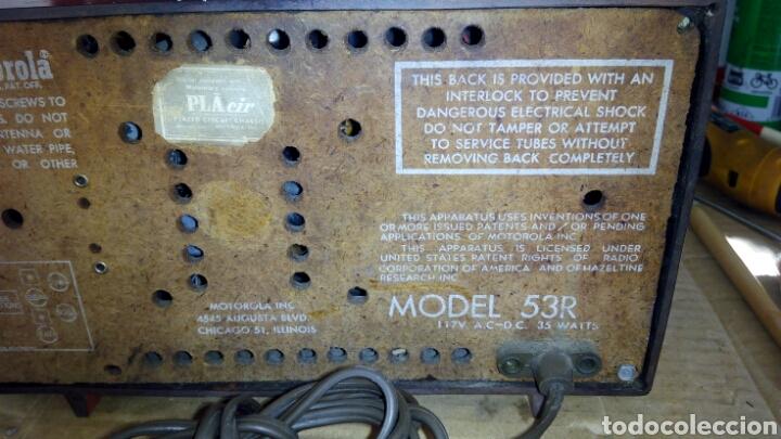 Radios de válvulas: Radio Motorola 53R, Américano,(Funcionando) - Foto 11 - 113167483