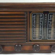Radios de válvulas: RADIO DE VALVULAS. CAJA DE MADERA. SIN MARCA. ESPAÑA. CIRCA 1940. . Lote 114332307