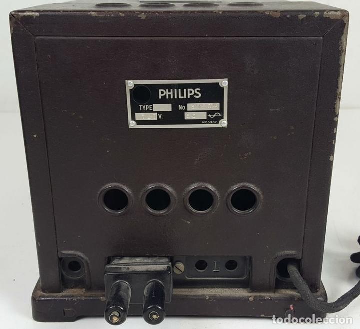 Radios de válvulas: RADIO PHILIPS MODELO 2515 A VALVULAS. PINTURA ORIGINAL. 125 V. 1928-1930. - Foto 2 - 114524211