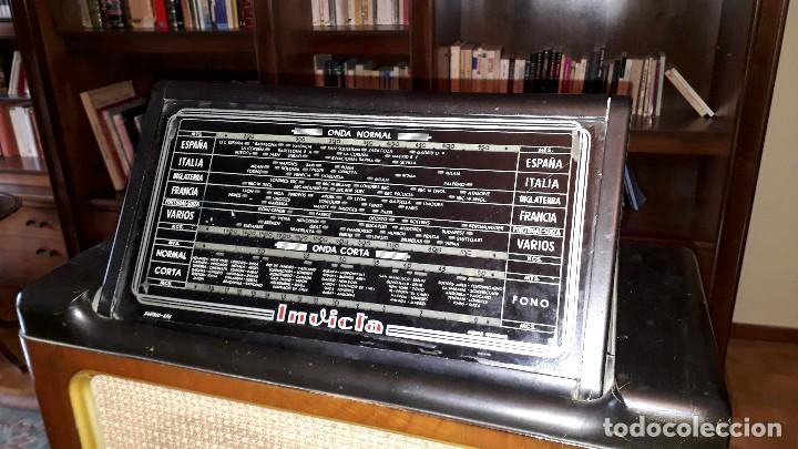 Radios de válvulas: Radio de válvulas antigua marca invicta mod. 243 - Foto 7 - 114613763