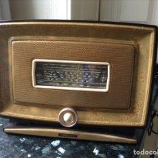 Radios de válvulas: RADIO MARCONI. FUNCIONANDO A 125V. CARCASA METALIC. Lote 114621538
