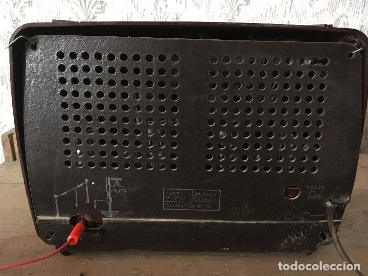 Radios de válvulas: RADIO RADIOLA BAQUELITA CON INTERRUPTOR.220V - Foto 9 - 115745899