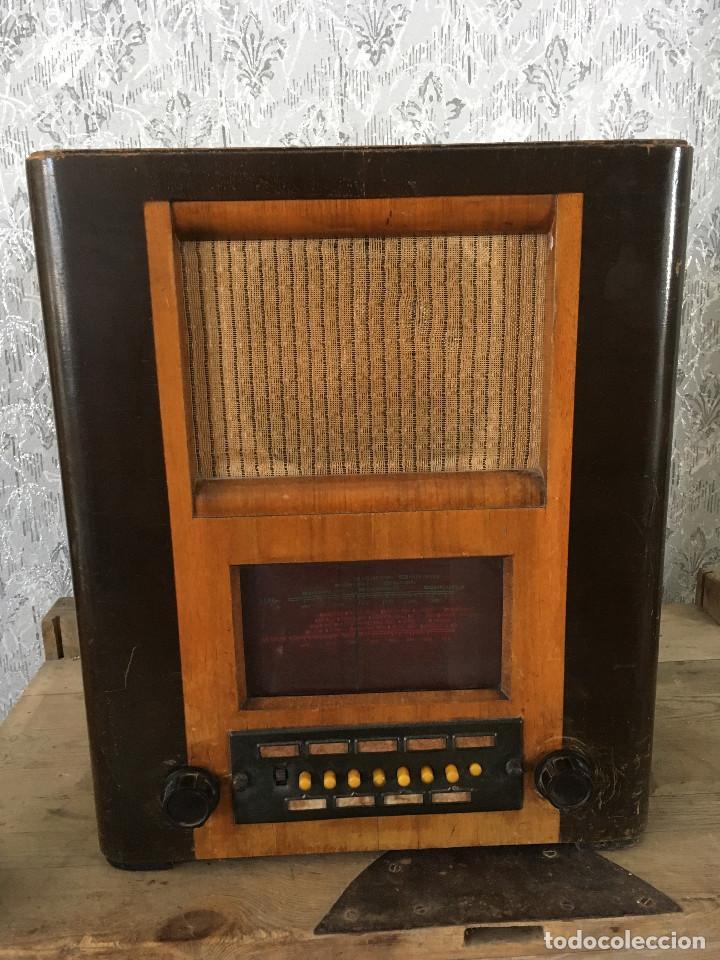 RADIO PYE SOBREMESA. CON PRESINTONIA. INGLATERRA 1938. 220V (Radios, Gramófonos, Grabadoras y Otros - Radios de Válvulas)
