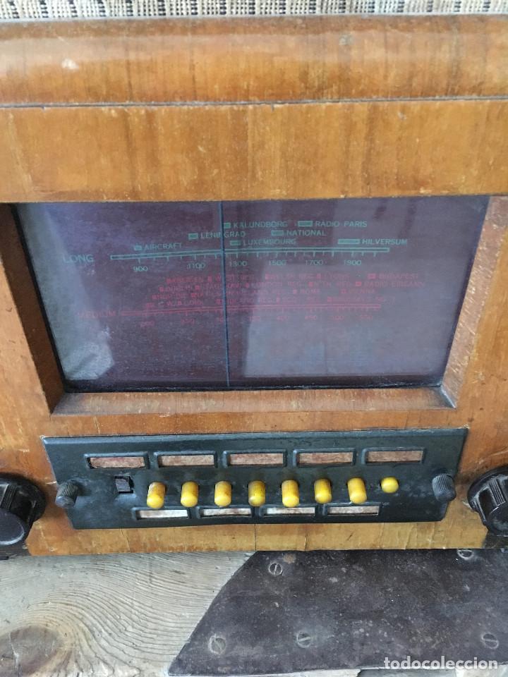 Radios de válvulas: RADIO PYE SOBREMESA. CON PRESINTONIA. INGLATERRA 1938. 220V - Foto 2 - 116295171