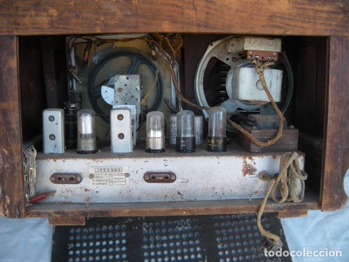 Radios de válvulas: ESPECTACULAR RADIO JOSANSO - Foto 10 - 116648243