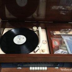 Radios de válvulas: EQUIPO RADIO CON TOCADISCOS LA VOZ DE SU AMO FABRICADA POR MARCONI EN FRANCIA EN 1958. Lote 117666067