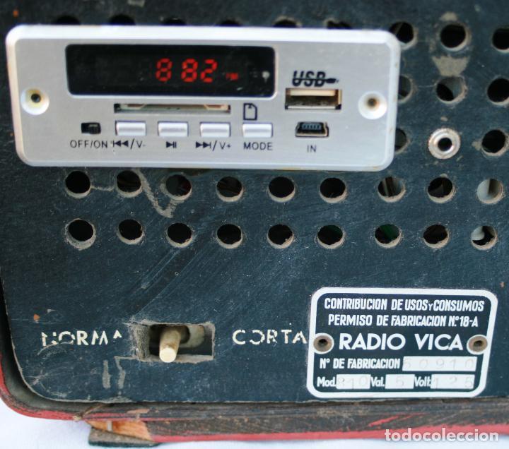 Radios de válvulas: AUTENTICA RADIO DECORACION VINTAGE MARCA VICA SUENA PERFECTAMENTE AÑOS 60 LEER MAS - Foto 10 - 118251007