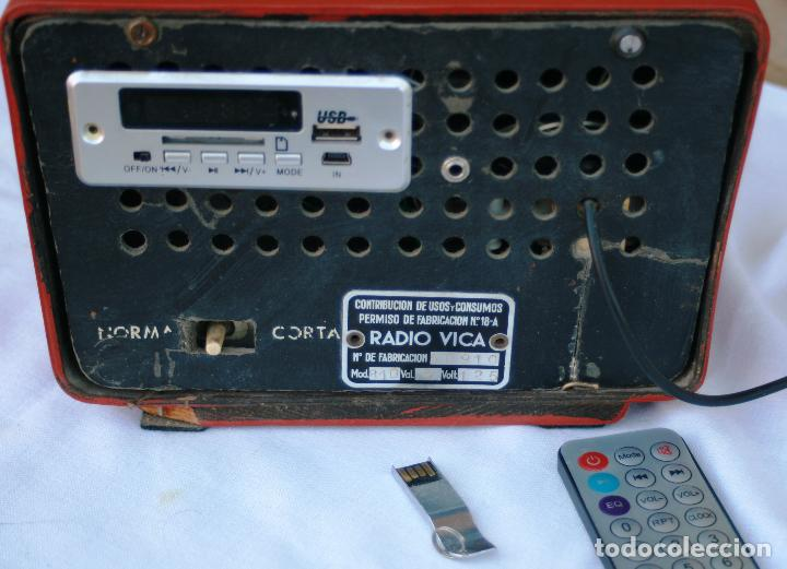 Radios de válvulas: AUTENTICA RADIO DECORACION VINTAGE MARCA VICA SUENA PERFECTAMENTE AÑOS 60 LEER MAS - Foto 11 - 118251007