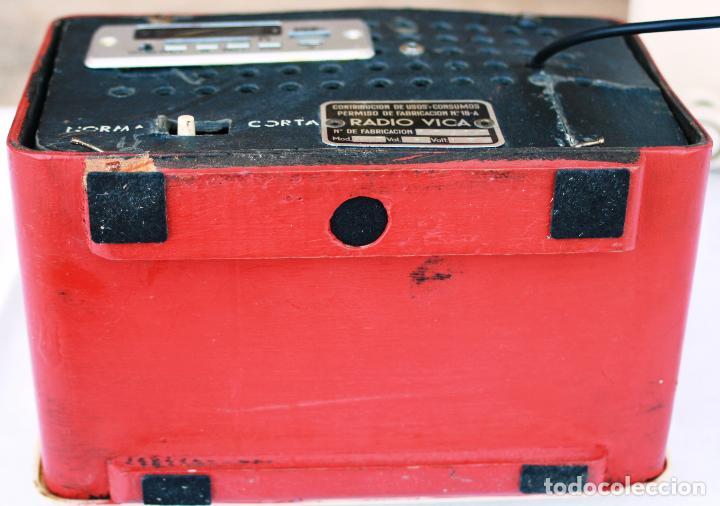 Radios de válvulas: AUTENTICA RADIO DECORACION VINTAGE MARCA VICA SUENA PERFECTAMENTE AÑOS 60 LEER MAS - Foto 13 - 118251007