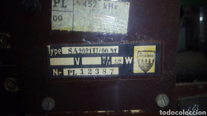 Radios de válvulas: Radio Aristona ,SA 2021 U Funcionando - Foto 11 - 120341960