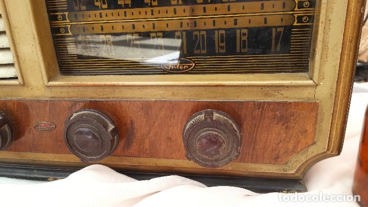 Radios de válvulas: Radio de válvulas antigua. Marca INTER. Años 60-70 - Foto 6 - 125964067