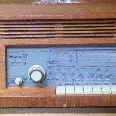 Radios de válvulas: ANTIGUA RADIO VALVULAS PHILIPS SIRIUS 450. FUNCIONA PERFECTAMENTE. Lote 126294823