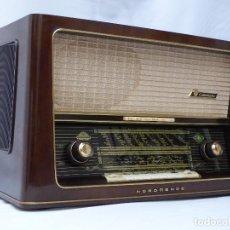 Radios de válvulas: ANTIGUA RADIO DE VÁLVULAS NORDMENDE, CARMEN 58-3D, FUNCIONANDO CON BUEN SONIDO (VER VÍDEO).. Lote 127537715