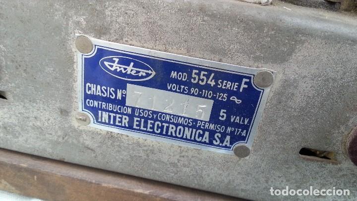 Radios de válvulas: Radio de válvulas antigua. Marca INTER BERING. Precioso objeto años 60-70 - Foto 14 - 128000519