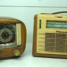 Radios de válvulas: DOS RADIOS ANTIGUAS. Lote 128546691