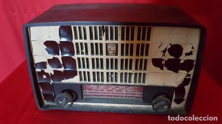 Radios de válvulas: Radio Philips de pequeño tamaño para restaurar. - Foto 2 - 129015635