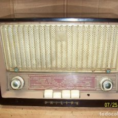 Radios de válvulas: RADIO PHILIPS - MODELO- B3E91V-FUNCIONA-DE BAQUELITA. Lote 129109275