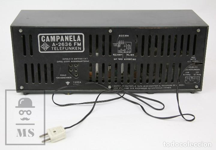Radios de válvulas: Antigua Radio de Válvulas - Telefunken. Campanela A-2636 FM - Restauración o Piezas - Años 60 - Foto 7 - 129513751