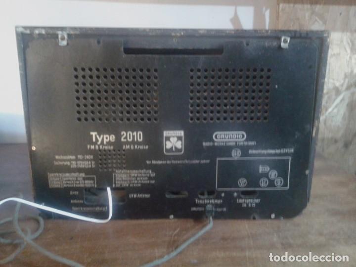 Radios de válvulas: radio grundig type 2010 en caja de madera - Foto 3 - 131306991