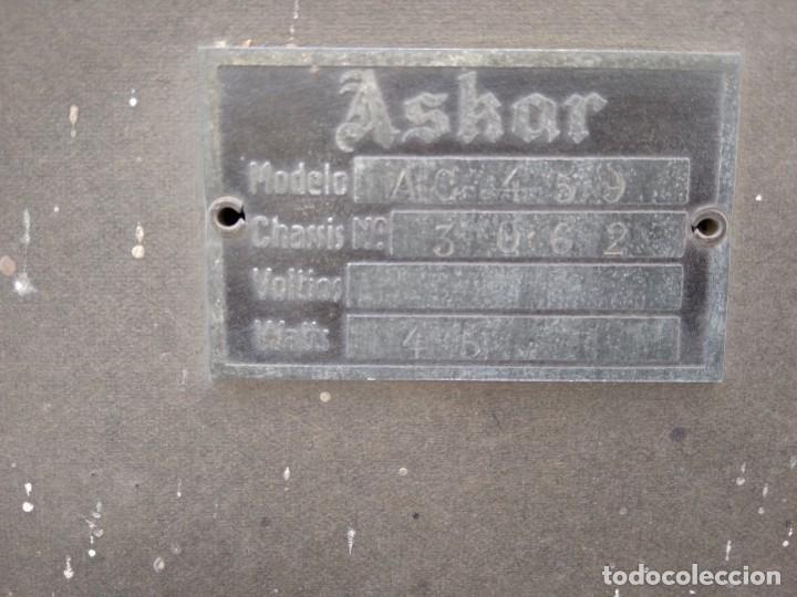 Radios de válvulas: Radio ASKAR antigua - Foto 5 - 131574038