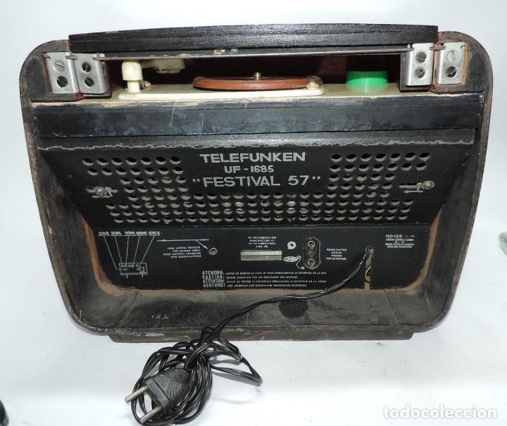 Radios de válvulas: Telefunken Festival 57 (con tocadiscos) La radio se encuentra en buenas condiciones estéticas, no sa - Foto 8 - 132457414