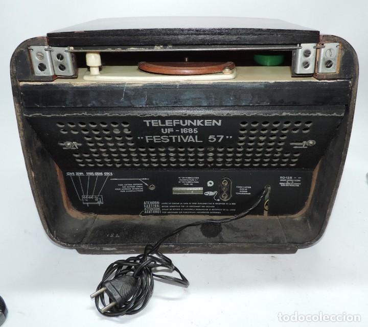 Radios de válvulas: Telefunken Festival 57 (con tocadiscos) La radio se encuentra en buenas condiciones estéticas, no sa - Foto 10 - 132457414