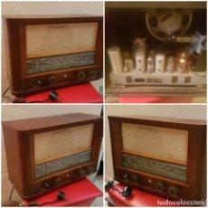 Radios de válvulas: ANTIGUA GRAN RADIO DE VALVULAS MARCA CASTILLA MODELO H-219-A 90-150 V 5 LAMPARAS 42*22*32 CM MADERA . Lote 133159130