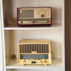 Radios de válvulas: LOTE 2 BONITAS RADIOS DE VÁLVULAS FUNCIONANDO. Lote 134395995
