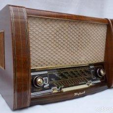 Radios de válvulas: ANTIGUA RADIO DE VÁLVULAS TONFUNK, MAGNIFICO ESTADO, DIAL ESPEJO,FUNCIONANDO GRAN SONIDO (VER VÍDEO). Lote 137201974