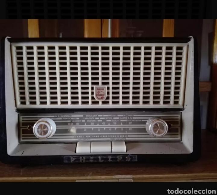 Radios de válvulas: Radio Philips con voltimetro - Foto 5 - 137214090