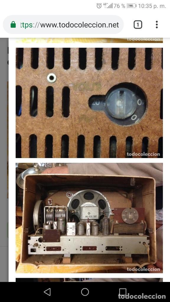 Radios de válvulas: Radio FUNCIONANDO RADIOLA de baquelita blanca - Foto 2 - 139122558