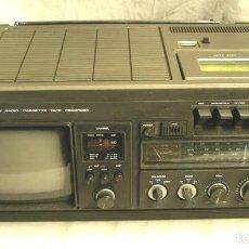 Radios de válvulas: CONIC TV, RADIO Y CASETTE, FUNCIONA. MED. 42 X 30 X 12 CM. Lote 143571674