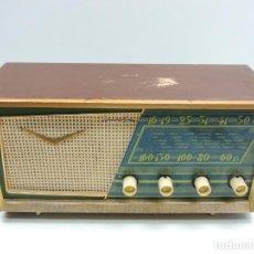 Radios de válvulas: IMPRESIONANTE ANTIGUA RADIO DE VÁLVULAS MADERA MARCA DANUBIO AZUL AÑOS 50-60 RARO. Lote 146107506