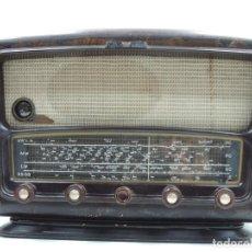 Radios de válvulas: IMPRESIONANTE ANTIGUA RADIO DE VÁLVULAS MADERA MARCA SCHNEIDER MELODIE AÑOS 50-60 RARO. Lote 146107762