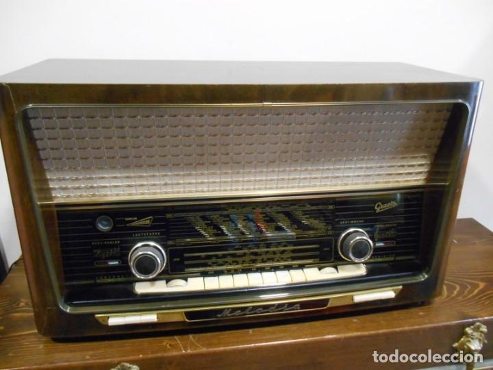 Radios de válvulas: Antiguo Radio de válvulas original, GRAETZ, MELODIA 419, funcionando gran sonido. - Foto 4 - 148099182