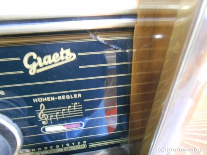 Radios de válvulas: Antiguo Radio de válvulas original, GRAETZ, MELODIA 419, funcionando gran sonido. - Foto 9 - 148099182