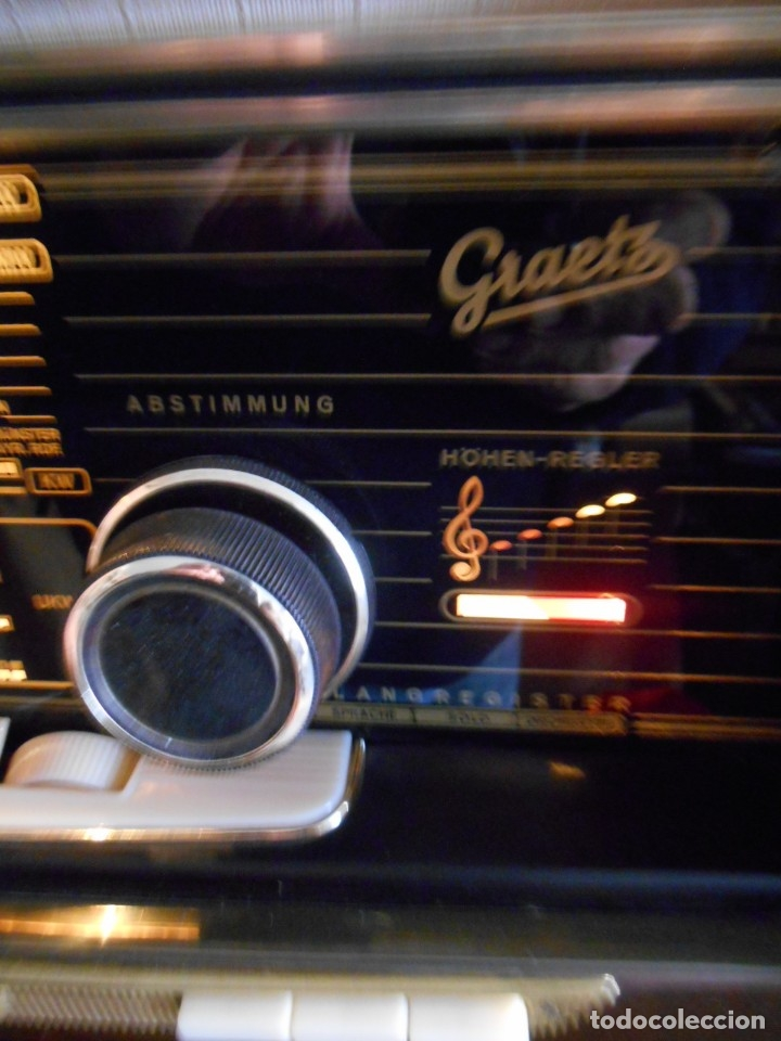 Radios de válvulas: Antiguo Radio de válvulas original, GRAETZ, MELODIA 419, funcionando gran sonido. - Foto 13 - 148099182