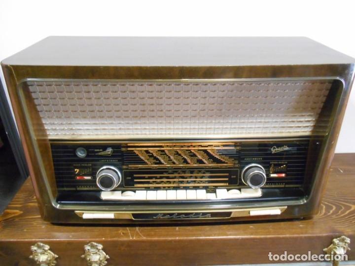 Radios de válvulas: Antiguo Radio de válvulas original, GRAETZ, MELODIA 419, funcionando gran sonido. - Foto 2 - 148099182