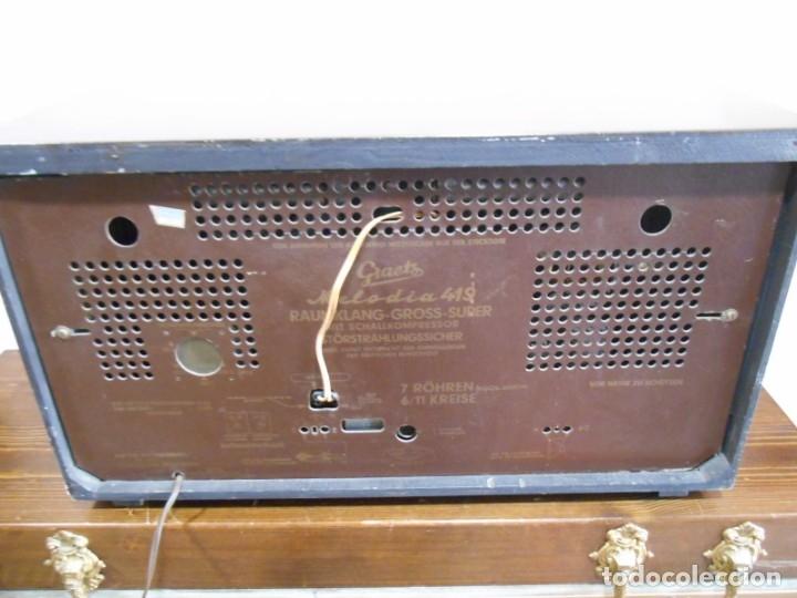 Radios de válvulas: Antiguo Radio de válvulas original, GRAETZ, MELODIA 419, funcionando gran sonido. - Foto 19 - 148099182