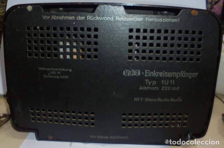 Radios de válvulas: ANTIGUA RADIO. R-F-T EINKREISEMPFÄNGER. MODELO 1U 11. FUNCIONA. 220 V. RADIO BERLIN. 38 X 28CM. VER - Foto 11 - 148912982