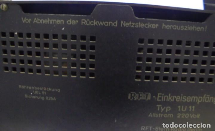 Radios de válvulas: ANTIGUA RADIO. R-F-T EINKREISEMPFÄNGER. MODELO 1U 11. FUNCIONA. 220 V. RADIO BERLIN. 38 X 28CM. VER - Foto 14 - 148912982