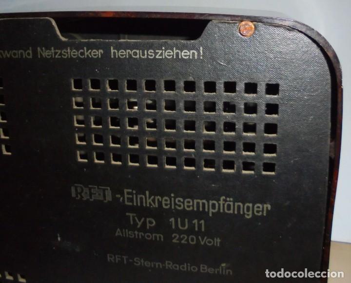 Radios de válvulas: ANTIGUA RADIO. R-F-T EINKREISEMPFÄNGER. MODELO 1U 11. FUNCIONA. 220 V. RADIO BERLIN. 38 X 28CM. VER - Foto 19 - 148912982