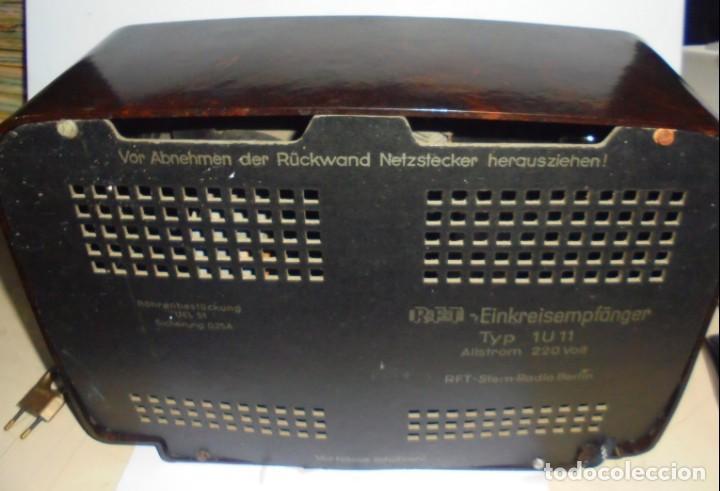 Radios de válvulas: ANTIGUA RADIO. R-F-T EINKREISEMPFÄNGER. MODELO 1U 11. FUNCIONA. 220 V. RADIO BERLIN. 38 X 28CM. VER - Foto 20 - 148912982