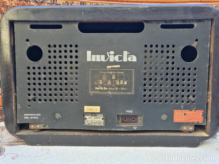 Radios de válvulas: RADIO INVICTA 330. MUEBLE MADERA. PRECIOSA. (VER FOTOS) - Foto 2 - 149542906
