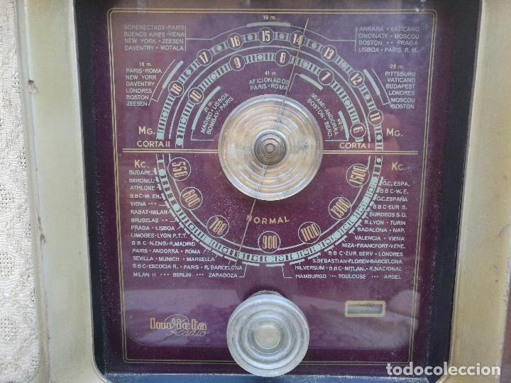 Radios de válvulas: RADIO INVICTA 330. MUEBLE MADERA. PRECIOSA. (VER FOTOS) - Foto 3 - 149542906