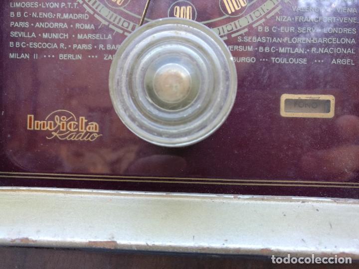 Radios de válvulas: RADIO INVICTA 330. MUEBLE MADERA. PRECIOSA. (VER FOTOS) - Foto 4 - 149542906