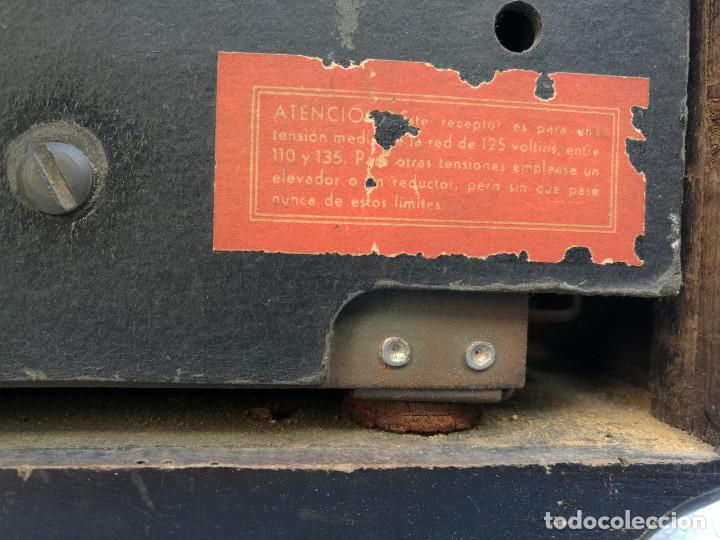 Radios de válvulas: RADIO INVICTA 330. MUEBLE MADERA. PRECIOSA. (VER FOTOS) - Foto 9 - 149542906